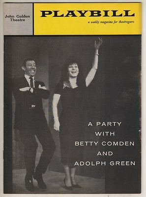 """""""A Party With Betty Comden & Adolph Green""""  1959  Playbill   Broadway"""