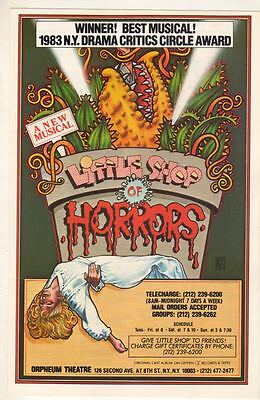 """Little Shop Of Horrors""  RARE   Flyer   1984   Off-Broadway"
