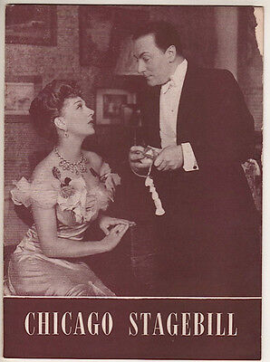 """Gertrude Lawrence  """"Pygmalion"""" Chicago Playbill  1946 Dennis King"""