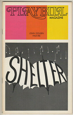 """""""Shelter"""" FLOP Playbill 1973 Gretchen Cryer Marcia Rodd OPENING NIGHT"""