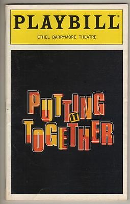 "Sondheim ""Putting It Together""   Playbill  Carol Burnett  1999  Broadway"