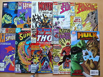 Selecton of 20 DC & Marvel Comics Comics as pictured Free UK P&P      (a)