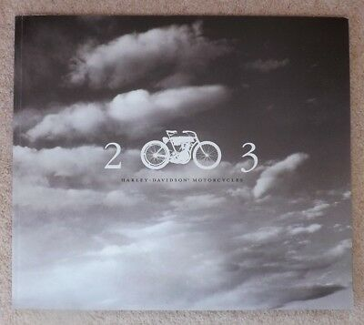 """ Harley -  Davidson "" Motorcycles 2003 Large Sales Brochure."