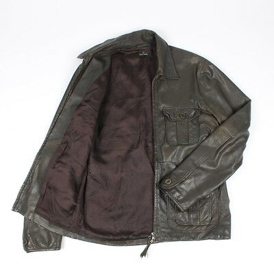 Paul Smith Men Leather Jacket Size M