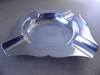 Excellent Art Deco Sterling Silver Ash Tray 1961, 76 Grams.