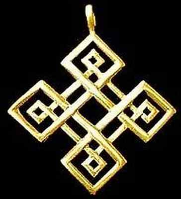 LOOK Gold Plated Celtic Compass Knot of Infinity charm