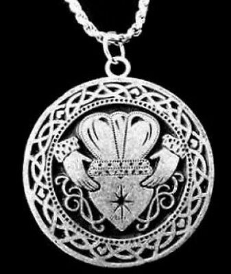 LOOK Friends Claddagh Celtic Knot Infinity 925 silver Charm