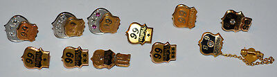 Phillips 66 10 K Gold Service Pins(11 of them total weight 18.5 grams) and Gems