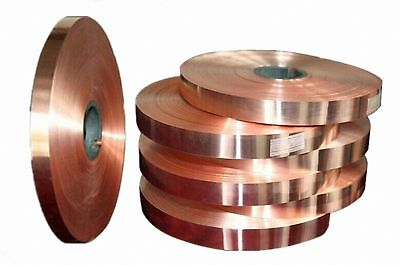 Select 0.1mm - 0.6mm Thick Copper Sheet Strip Foil Blank Plate Block 40 50mm