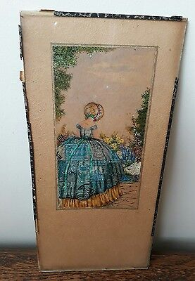 RARE ART DECO CRINOLINE LADY STAMP PICTURE DORAM SIBLEY St Just-in CORNWALL 1924