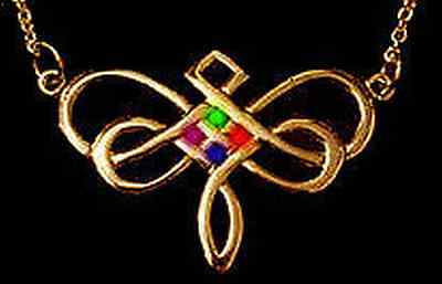 LOOK Dragonfly Celtic Infinity Knot Gold pltd. charm STONES!