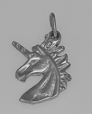 LOOK Celtic mystic Unicorn Sterling Silver 925 Charm Jewelry
