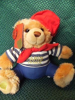 "Keel Toys seaman  PARIS FRANCE Teddy Bear 9"" approx with tags"