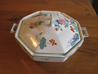 VINTAGE WOOD AND SON ART DECO  LARGE COVERED SERVING DISH c1930's  STAFFORDSHIRE