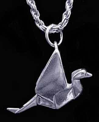 LOOK 40pc Wholesale Japanese ORIGAMI Bird Crane CHARM Silver