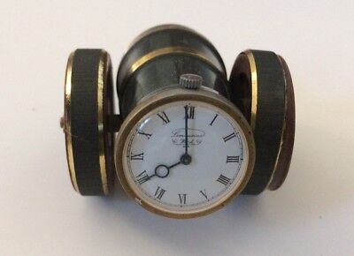Brass Cannon Shaped Clock