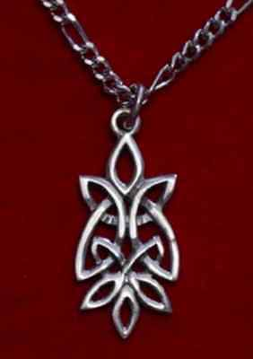 LOOK 0167 Celtic Knot of Infinity Silver pendant charm wicca