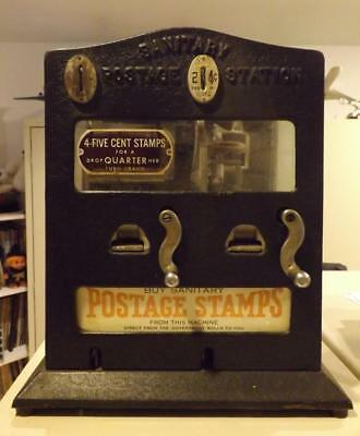 1930's Schermack Antique Sanitary Postage Station Stamp Vending Machine Keys