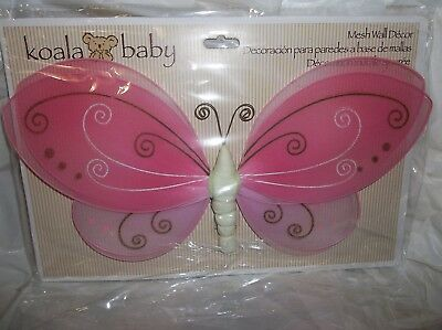 "Koala Baby/toddler Bedroom Mesh Wall Decor-Pink Butterfly 13""  X 7.87"""