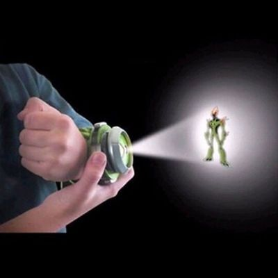 US BANDAI BEN10 Kids Watch Projector Omnitrix Alien Viewer W/ 3 Disks 30 Images
