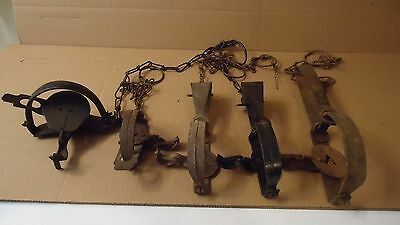 Vintage Small Game Animal Traps lot