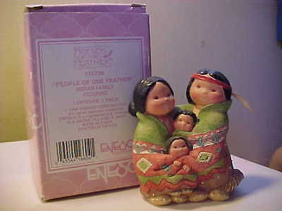 """Enesco 1994 Friends of The Feather """"People of One Feather"""" Original Box"""