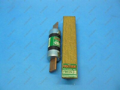 Bussmann FRN-125 Time-delay Fuse Class K5 125 Amps 250 VAC/125 VDC New