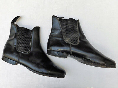 Mens vintage Chelsea boots size 8 elastic sided jodhpur ankle boots 1950s 1960s
