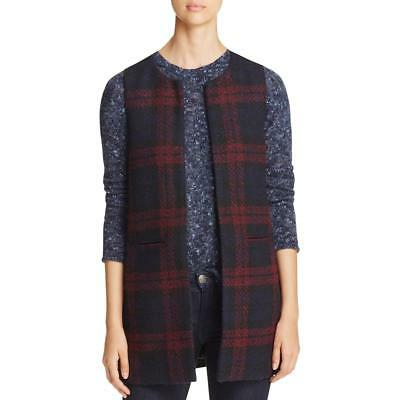 Sage 7946 Womens Textured Plaid Pocketed Casual Vest BHFO