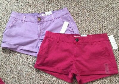 NWT Juniors' SO® Chino Shortie Shorts (choose color & Size)