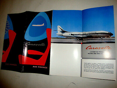 AIR FRANCE CARAVELLE. Illustrée JEAN COLIN BROCHURE 1958
