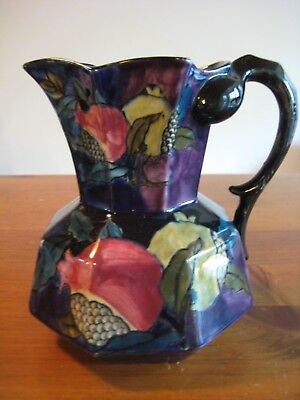 Antique S. Hancock & Sons Rubens Ware Large Hydra Jug F.x. Abraham Pomegranate
