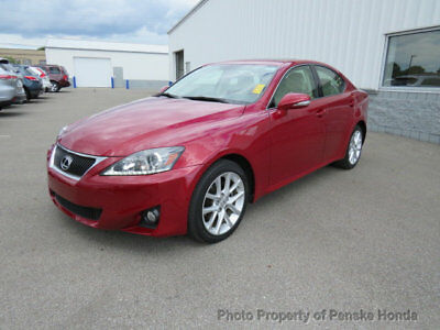 2012 Lexus IS 4dr Sport Sedan Automatic AWD 4dr Sport Sedan Automatic AWD Automatic Gasoline 2.5L V6 Cyl RED