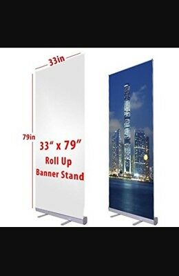 "33"" x 79"" Retractable Banner Stand"
