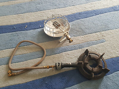 Camping gas heater and burner