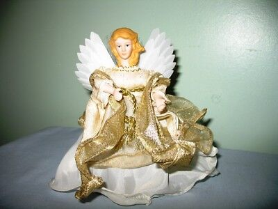 Fiber Optic Christmas Angel-White Lighted Table Topper-Battery Operated-Tested!
