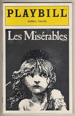 """Les Miserables""   Playbill  1994   Craig Schulman & Robert Cuccioli  Broadway"