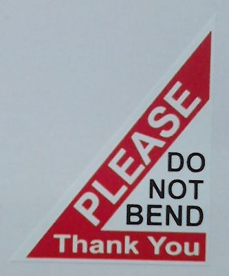 PLEASE DO NOT BEND Labels Stickers 40x50mm Laser Printed x 32 or 96 stickers