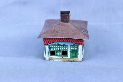 Vintage Tin Litho Candy Container House Cover  #3