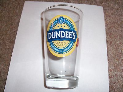 Dundees Classic Lager Determined Distinguished Demand It 1 Beer Pint Glass