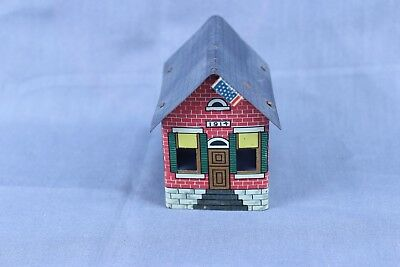 Vintage Tin Litho Candy Container House Cover  #6