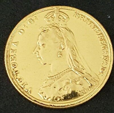 1887 Great Britain 0.235 Gold Sovereign Jubilee Head -Polished Ideal for Jewelry