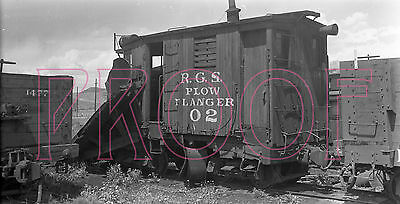 Rio Grande Southern (RGS) Wedge Plow Flanger 02 at Ridgway in 1947 - 8x10 Photo