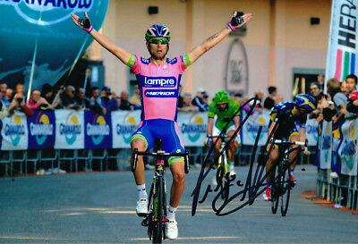Diego Ulissi - Autographed - Signed 8X12 inches Lampre Cycling Team Photo