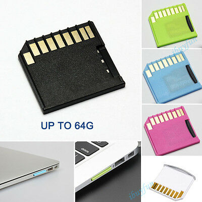 1Pcs  TF to Short Mini SD Adapter Micro SD Card Adapter For MacBooks Pro Air