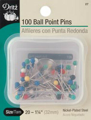 Size 20 100/Pkg - Color Ball Point Pins