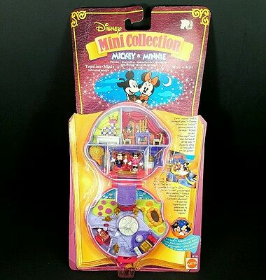 *NEW & COMPLETE* Polly Pocket 1995 MICKEY & MINNIE Playcase Mouse Disney Vintage