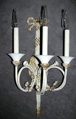 VTG ART DECO VICTORIAN SHABBY COTTEGE CHIC SCONCE CHANDELIER WALL FIXTURE 1920's