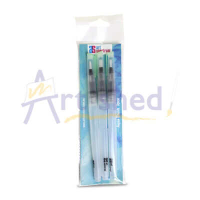 Art Spectrum Aqua Brush Set Of 3 - Flat Tip Small