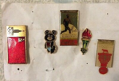 Pin Badges Of Olympics 1980 Russia